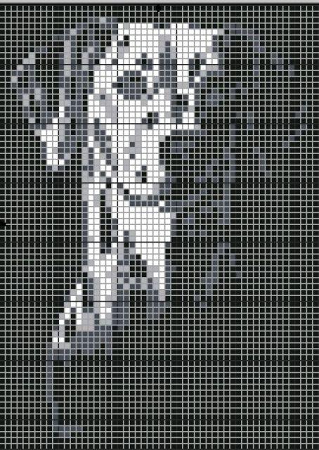 Рхема вышивки ЧС'рное и белое: