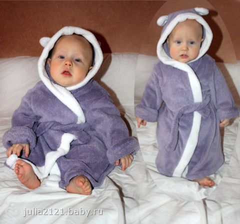 Сшить халатик для малыша 68