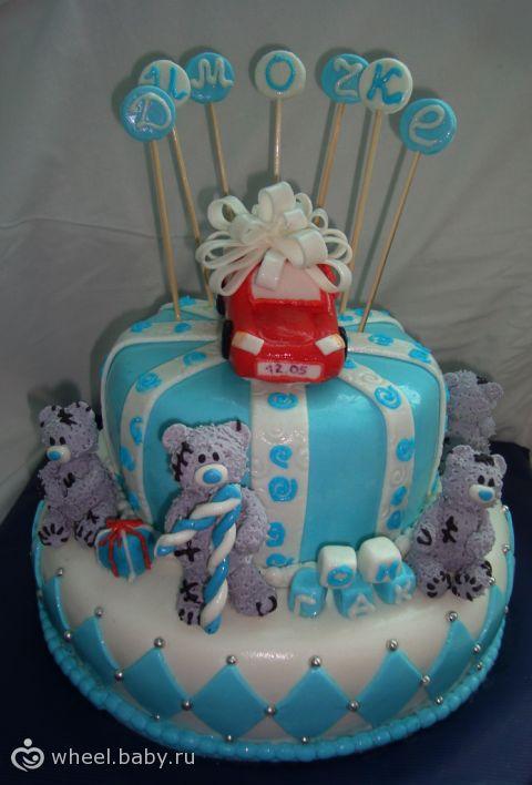Торт на годик мальчику детские торты