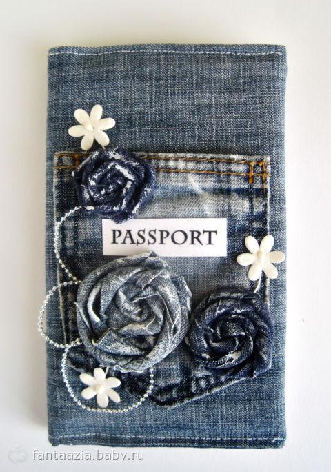 Джинсовые обложки на паспорт своими руками