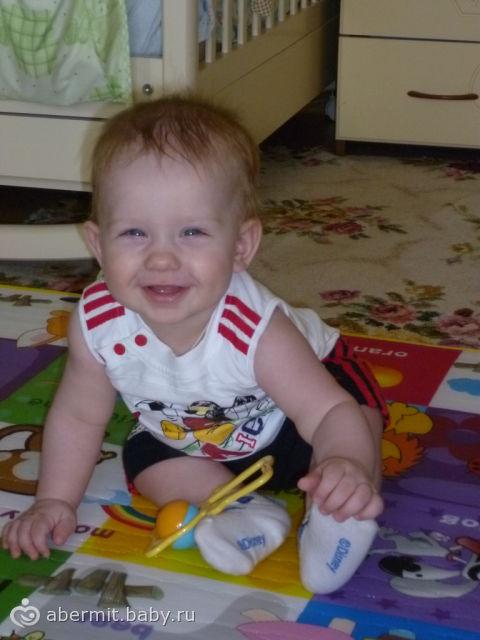 Своего сынульку с 7 месяцами… для всех