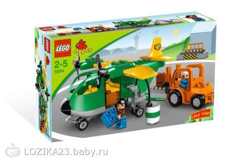 """Lego Duplo Конструктор  """"Грузовой самолет """" 5594."""