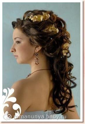 Свадебные прически на длинные волосы с фото.