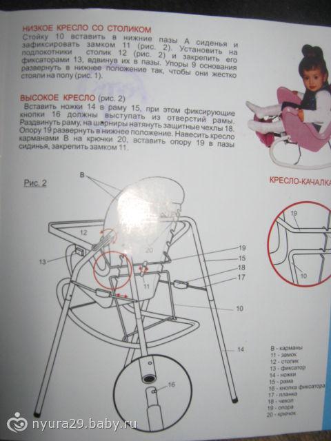 кресло-няня 4 в 1 инструкция