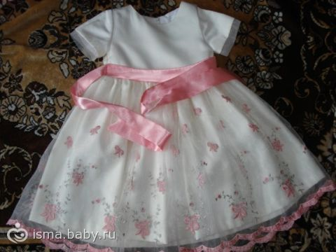 Выкройка платья для девочки на 1 год