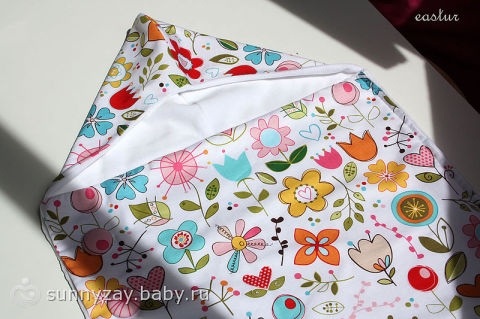 шьем конверт на выписку летний