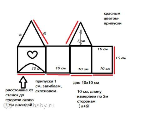 Бумажные домики своими руками схема фото 960