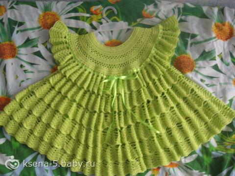 Платье колокольчик крючком для девочки
