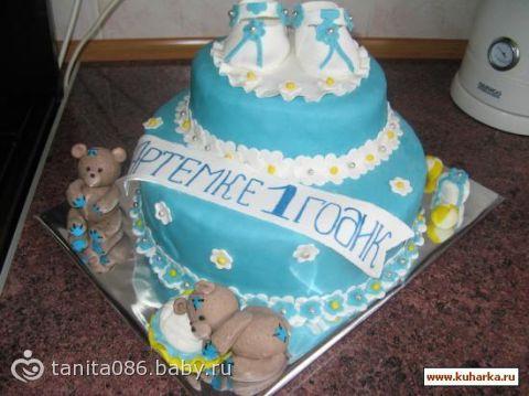 Фото торты для детей на 1 год