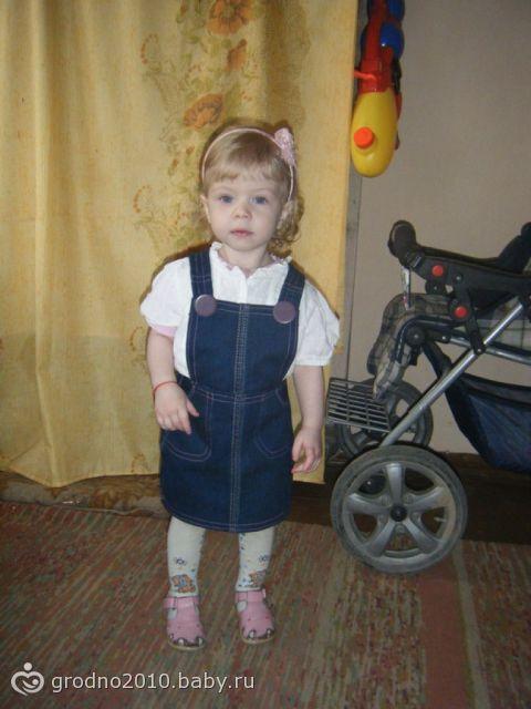 сарафан для дочи из джинсов сына (фото)