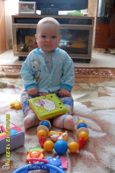 УРА!!! Ванюша сел сам в 6 месяцев и одну неделю.31.03.12